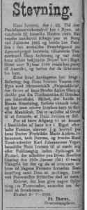 Hans Iversen - stevning