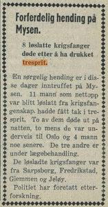 Artikkel i Sarpsborg Arbeiderblad.